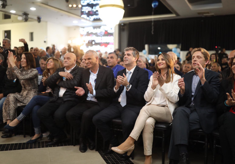 The campaign launch of the Kulanu Party in the city of Ashkelon, January 30, 2019. (Courtesy)