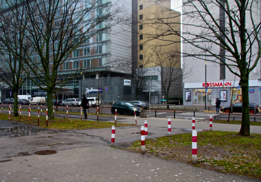 Grzybowska Street today around the area where Warsaw's Jewish Community Center and my grandmother's apartment once stood. Photo credit: Tovah Lazaroff.