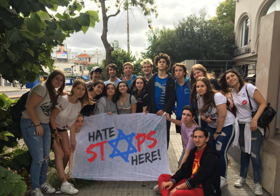Hate Stops Here protesters in Uruguay / Courtesy