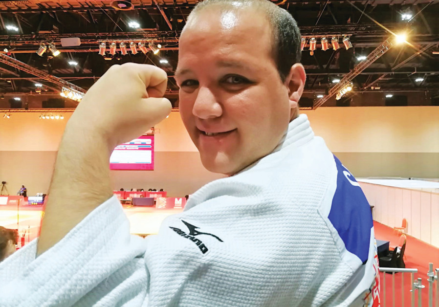 Judoka Levav Barkan earned a silver medal in the under-80kg competition at the 2019 Special Olympics in Abu Dhabi (Courtesy Special Olympics Israel)
