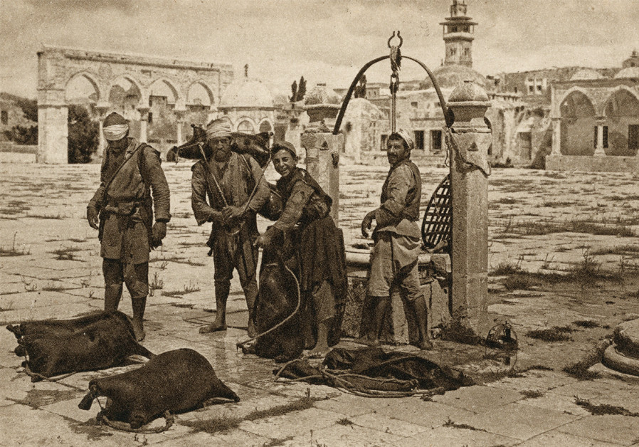 ONE OF a series of postcards of the Temple Mount esplanade, Shlomo Narinsky, 1910-1921. Photogravure print, Tower of David Museum Collection, Jerusalem. (Photo: Tower of David)