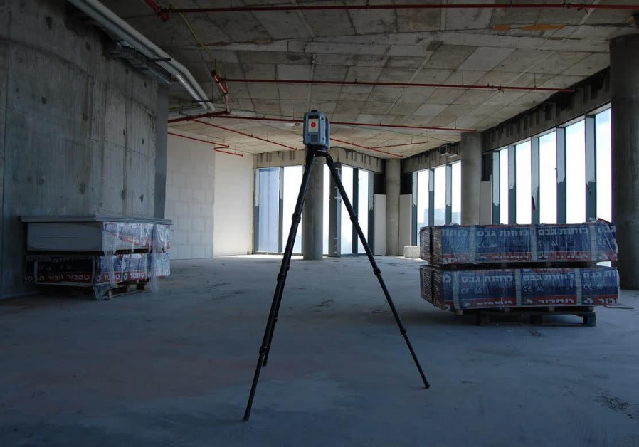 A state-of-the-art laser scanner used by WeWork to map the company's latest Tel Aviv property / EYTAN HALON