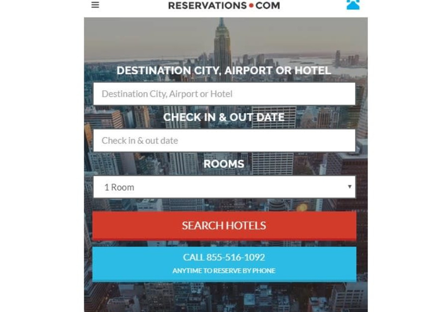 Reservations.com provides the best personalized online travel experience
