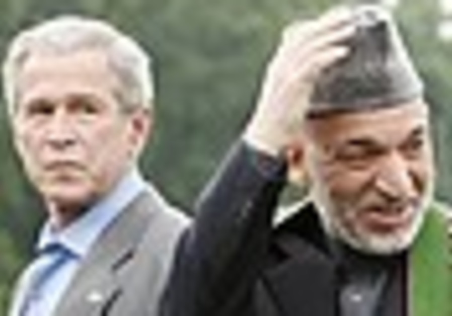 Bush, Karzai search for elusive stability in Afghanistan