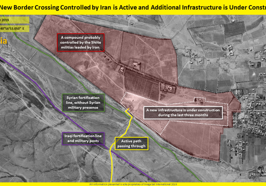 Satellite images reveal: Iran building border crossing to smuggle weapons