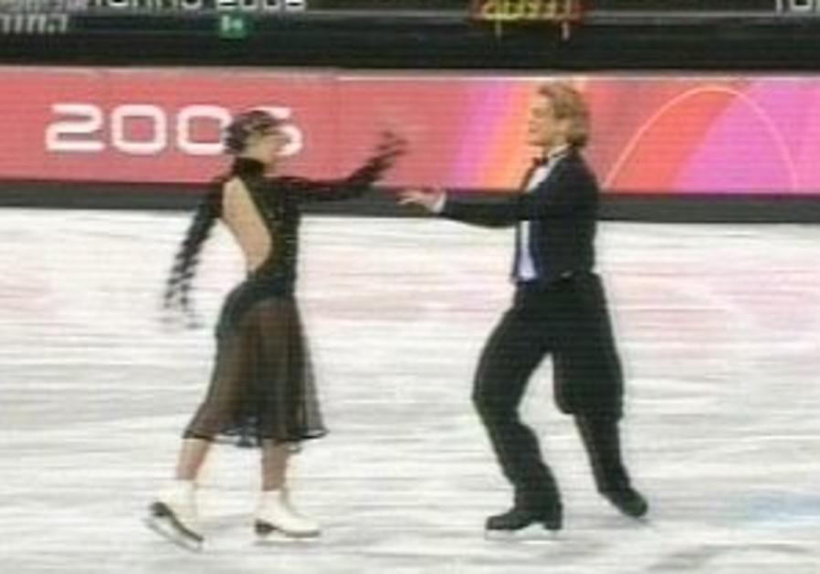 Chait slips during ice dancing program