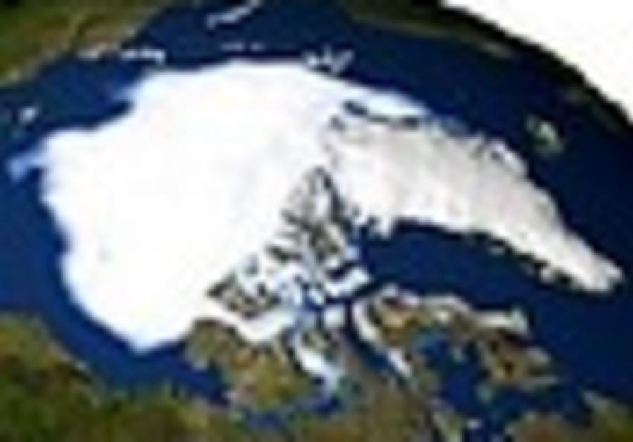 Arctic sea ice shrinks to record low