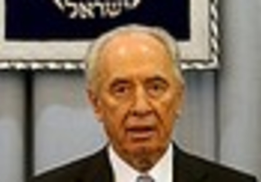 Peres: We may talk to Hamas if rocket fire is halted