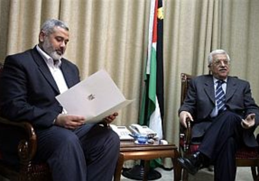 Haniyeh, Abbas meet to discuss policy