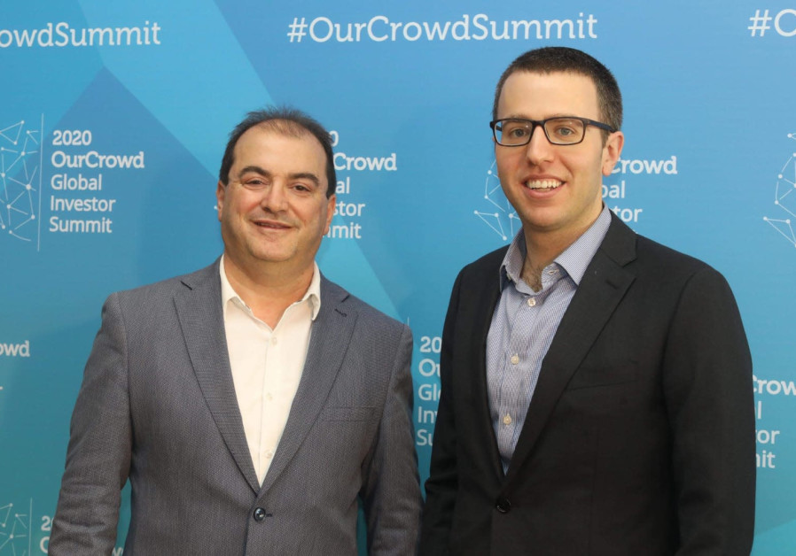 Alpha Tau Medical CEO and Chairman Uzi Sofer and CFO Raphi Levy at Ourcrowd Summit 2020 (Credit: Marc Israel Sellem/The Jerusalem Post)