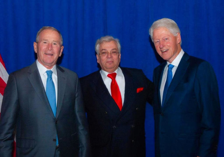 Aaron Frenkel with George Bush and Bill Clinton