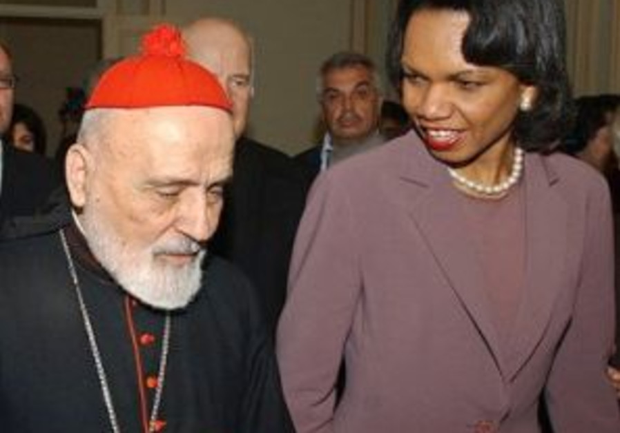 rice w head of lebanese catholics