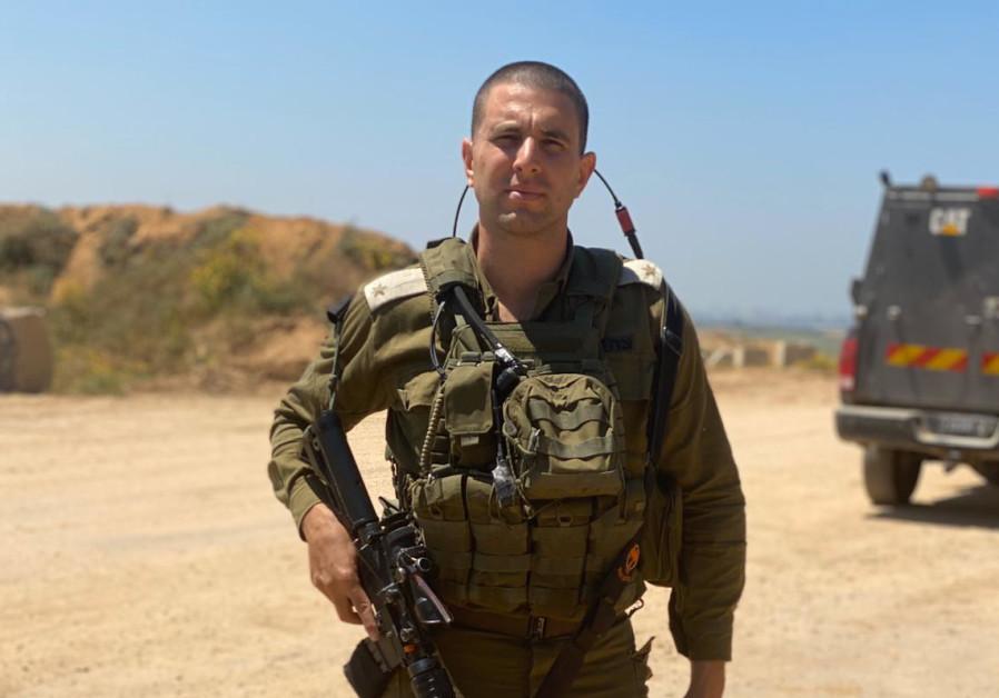 Maj. Naor Shem Tov (Credit: IDF Spokesperson's Unit)