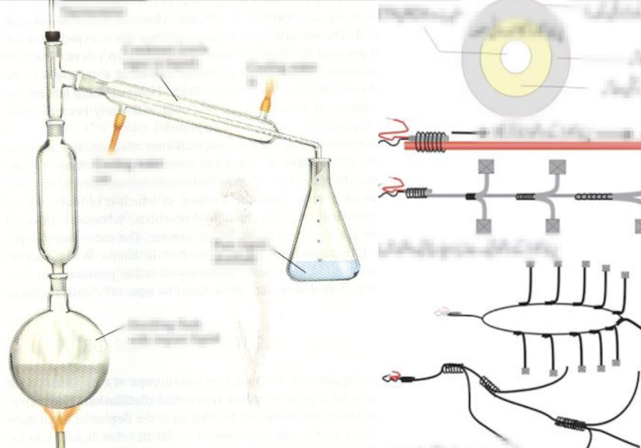 The instructions the Hamas operatives used to build a home-made bomb (Credit: Shin Bet)