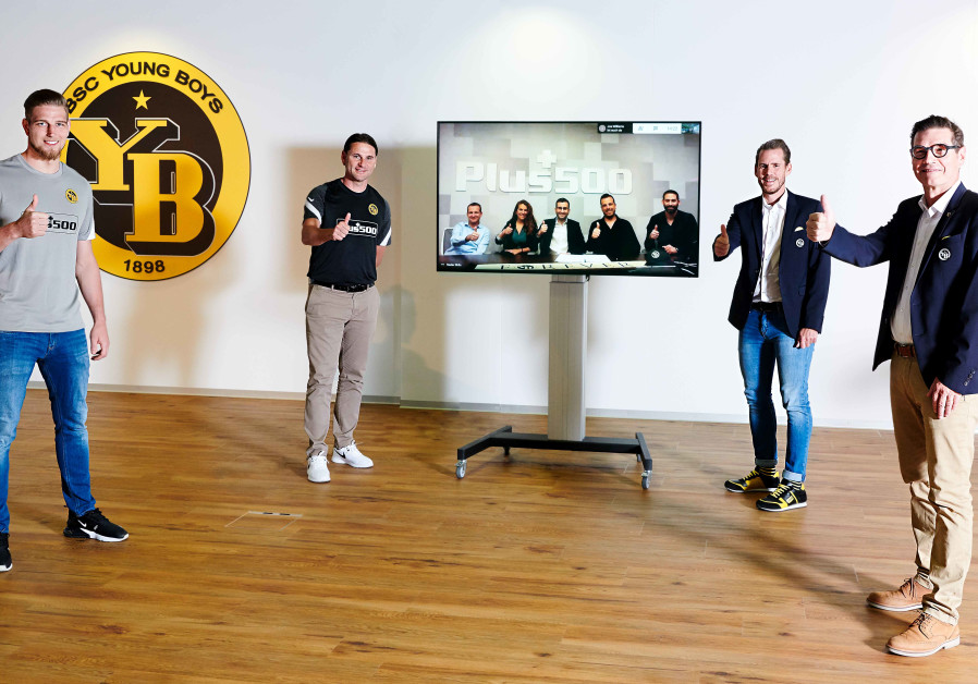 The sponsorship signing ceremony between Young Boys and Plus500 (Credit: Young Boys)