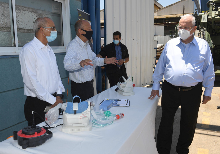 President Reuven Rivlin visits Israeli defense contractor Elbit Systems. (Mark Neyman/GPO)