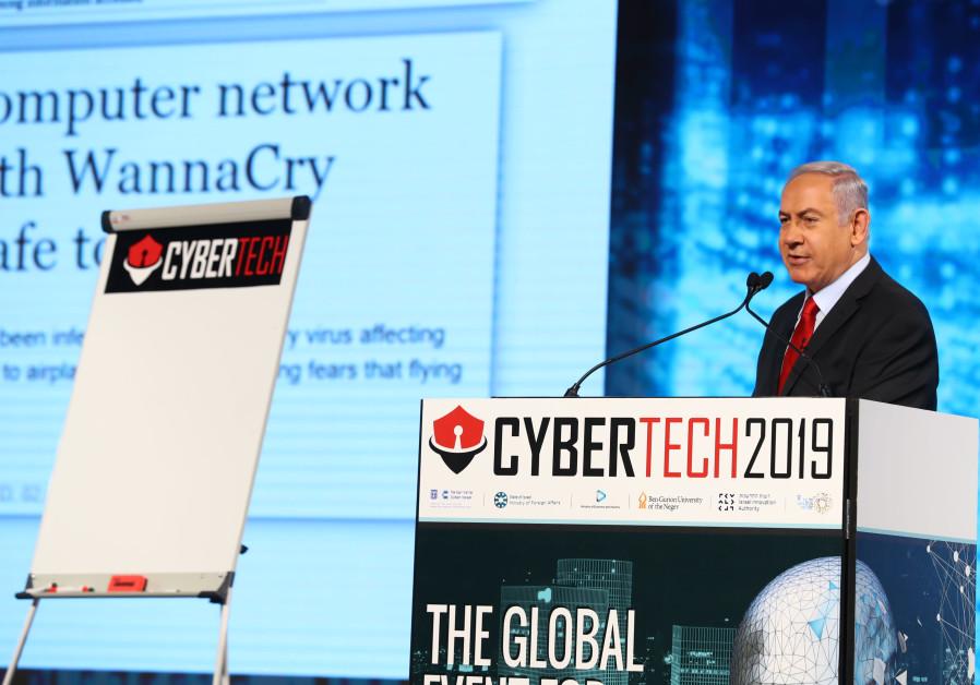 PRIME MINISTER Benjamin Netanyahu at Cybertech 2019.
