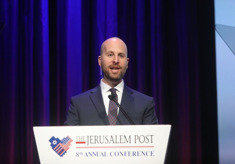 'JERUSALEM POST' Editor-in-Chief Yaakov Katz speaks at the annual Jerusalem Post Conference in New York City in June 2019. (Marc Israel Sellem)