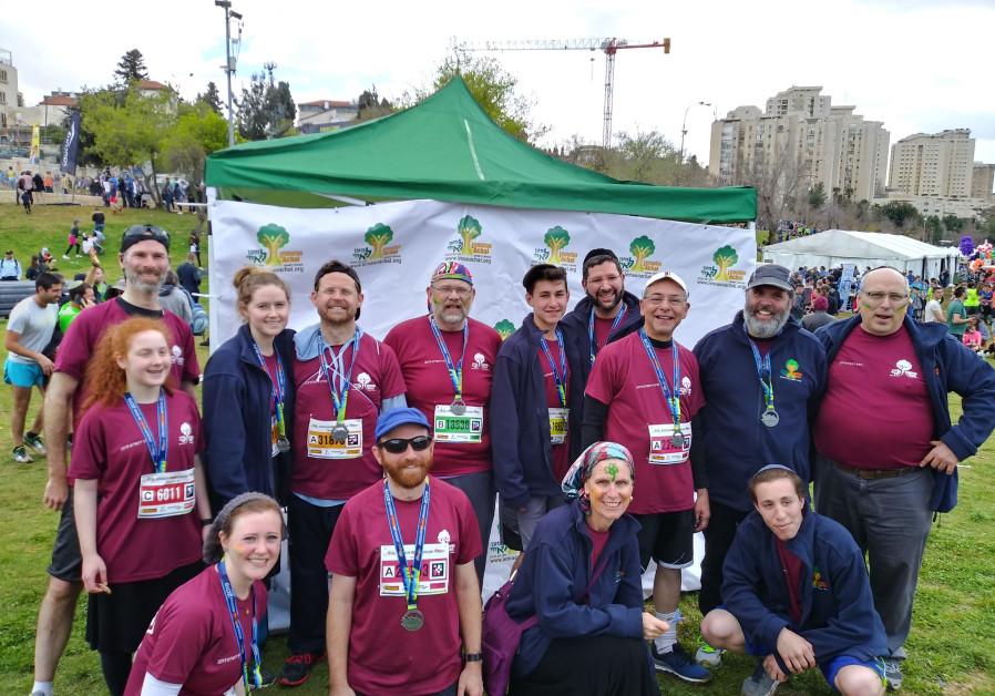 LEMA'AN ACHAI Team at the 2019 Jerusalem Marathon.