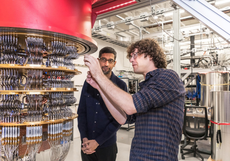 ONE OF Google's Quantum Computers in its Santa Barbara, California, lab in October 2019. (Google/Handout via Reuters)