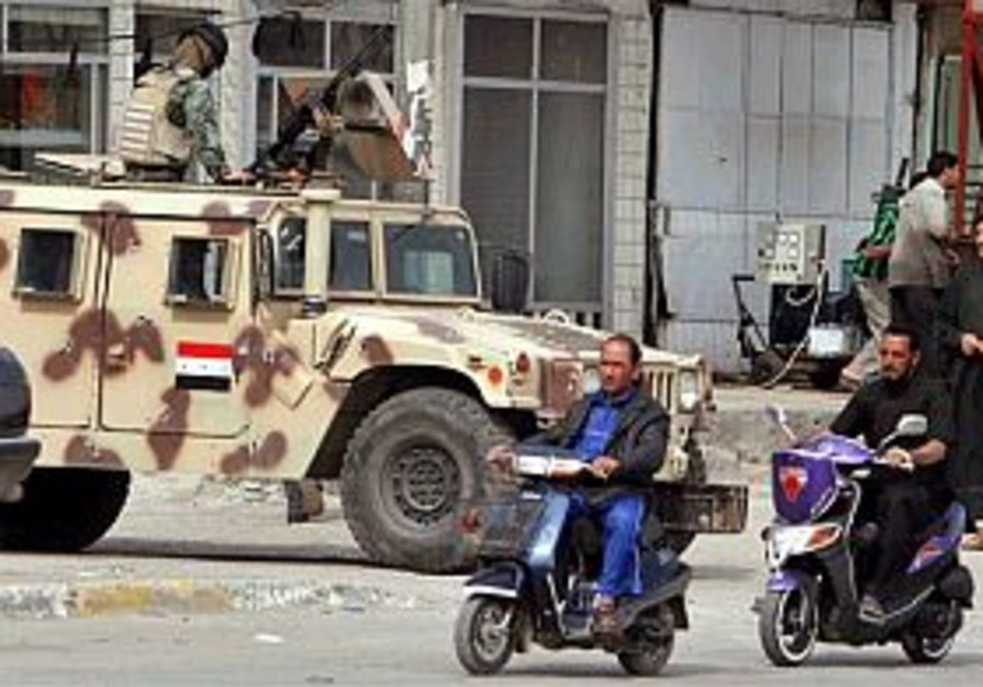 iraqi army vehicle in baghdad