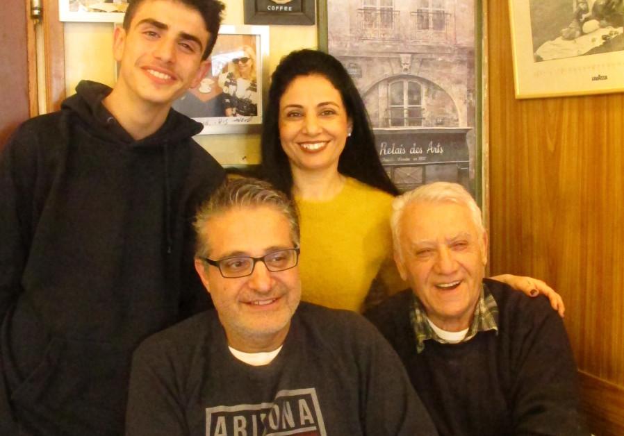 THE DUVSHANIT family: Aviad Korell (standing top L), Sigalit Korell (standing top R), Nuriel Zarifi (seated bottom R) and Yossi Zarifi (seated bottom L).