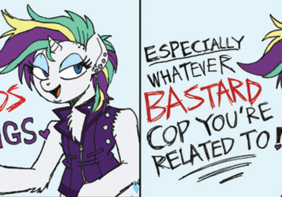 RARITY endorses the antipolice brutality slogan 'All cops are bastards.' (Wootmaster)