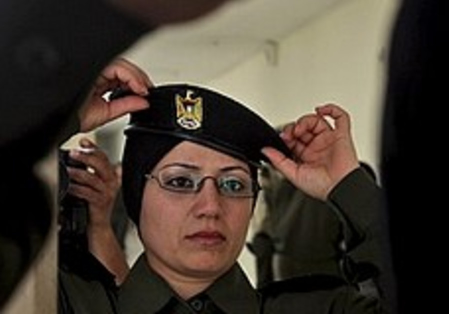Palestinian women train with men at academy