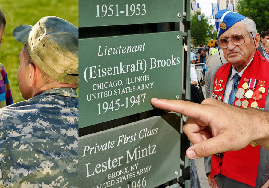 Families and friends acknowledge the veteran or currently enlisted Armed Services member in their lives through JNF-USA's Wall of Honor located at Ammunition Hill in Jerusalem. The wall acknowledges American, Israeli, and other veterans from across the globe. (Credit: JNF-USA)