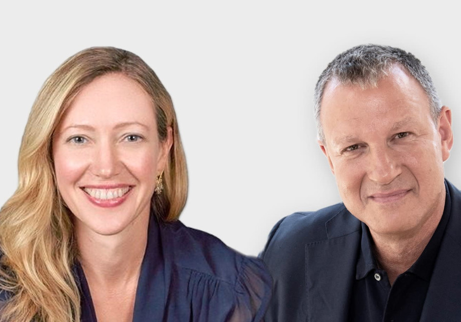 (L-R) Nanit CEO Sarah Dorsett and JVP founder and chairman Erel Margalit. (Courtesy)