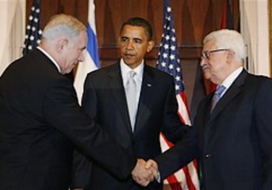 netanyahu abbas shake hands 248 88