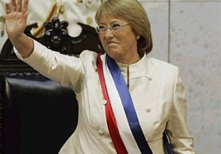 Bachelet sworn in as Chile's first woman president