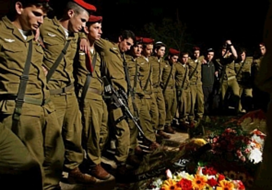 paratroopers at ido shapira's funeral