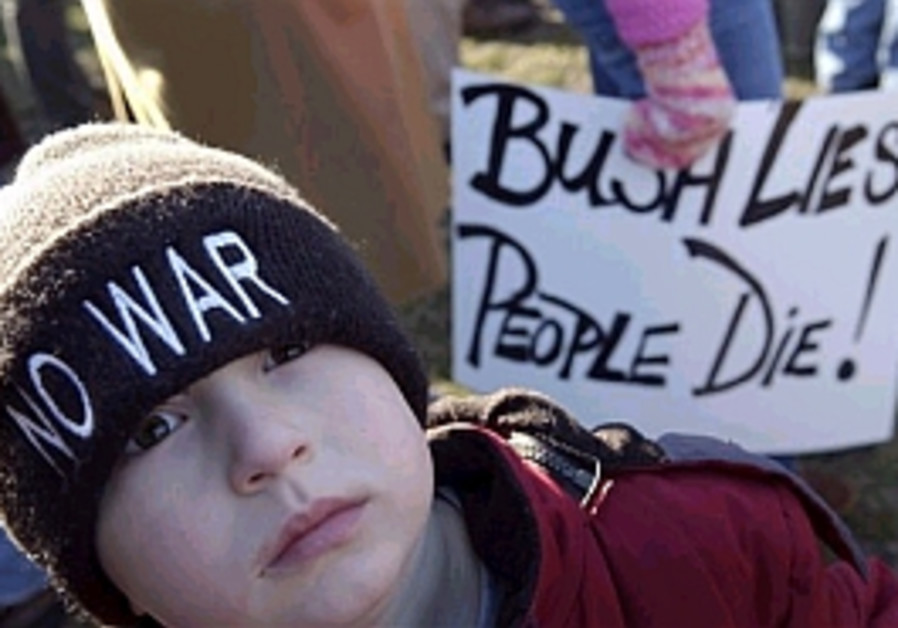 Protesters rally on Iraq war anniversary