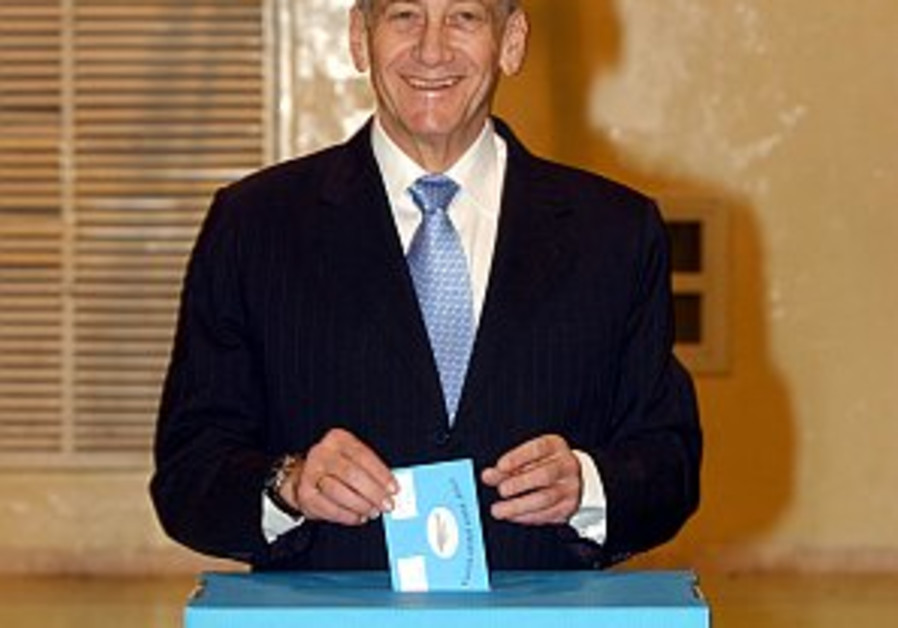 olmert votes 298.88