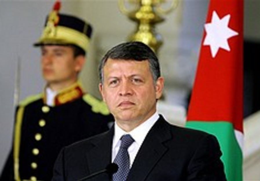 King Abdullah floats 'deposit' to spur Israel