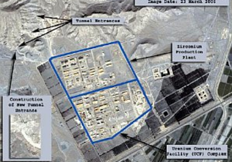 iran nuclear, satellite image, Credit Isis 298