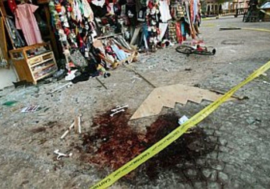 gruesome bombing scene