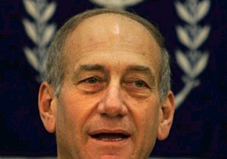 Olmert vows to change state's borders
