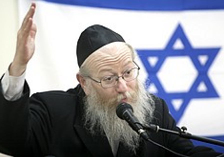 Litzman counting on Knesset to cast out 'terrible' Treasury decisions on health