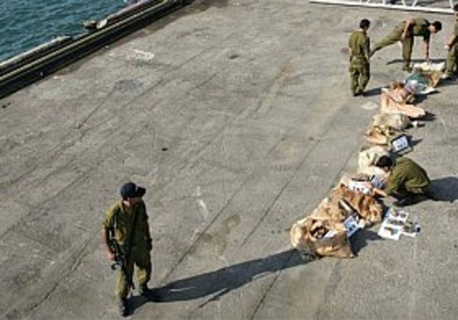 Navy keeps smuggled TNT out of Gaza