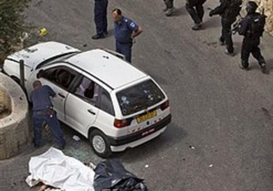 Arab killed ramming car into J'lem cops