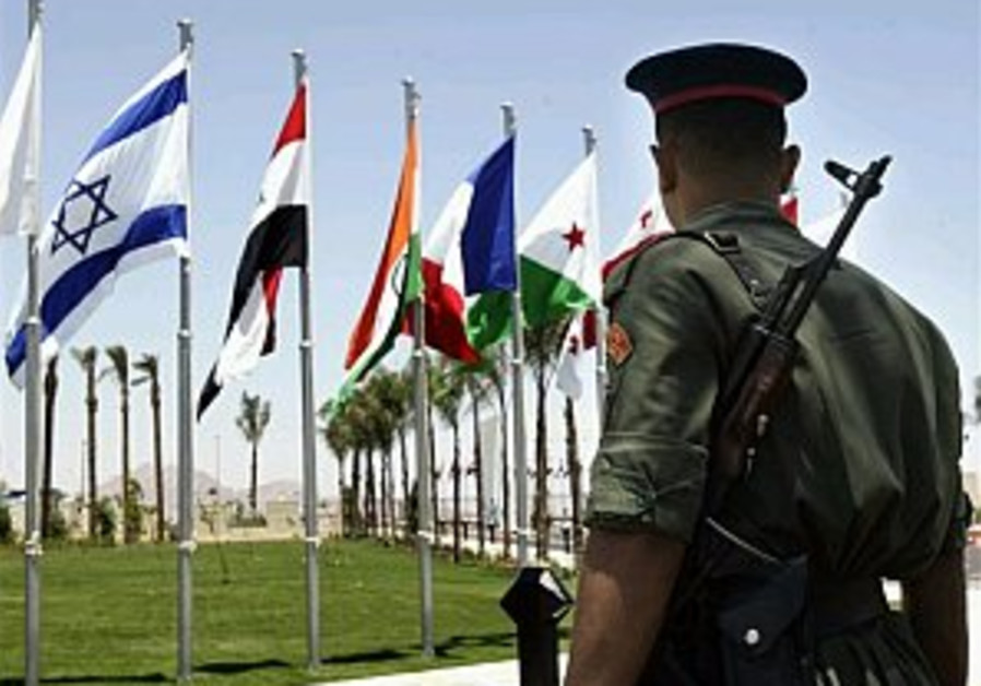 egyptian soldier looks at Israeli flag in Sharm 29