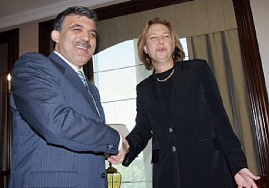 Livni receives support from Turkey on Iran
