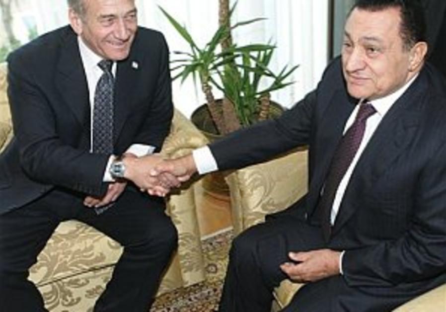 olmert mubarak egypt 298 AP