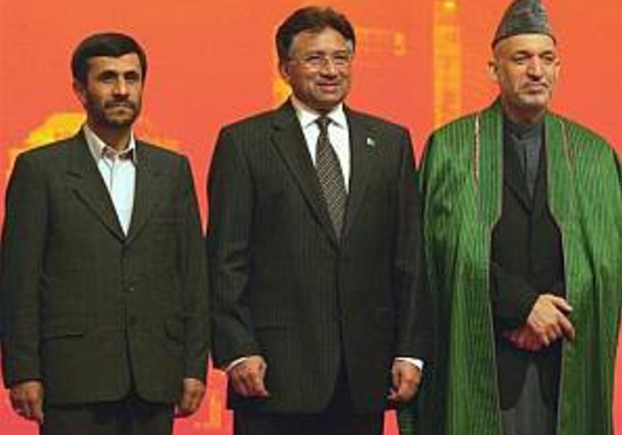 ahmadinejad, musharaff, karzai, in china 298 ap