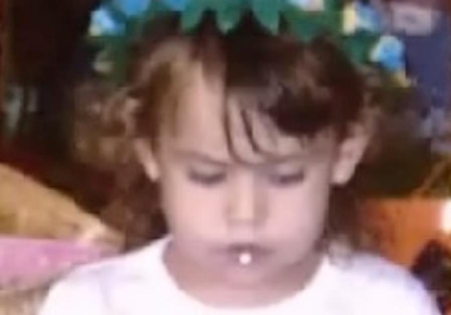 Three-year-old Noa Goldring, killed Saturday.
