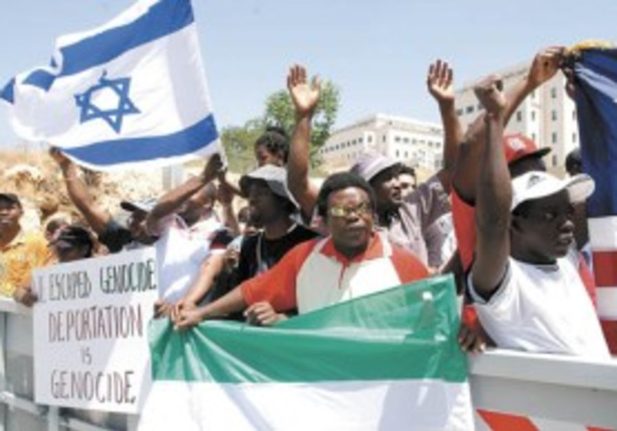 Sudanese refugees visit Knesset to stress their plight