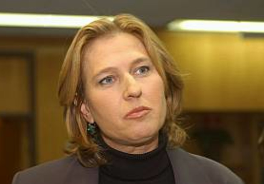 Livni: Don't drop demands on Hamas