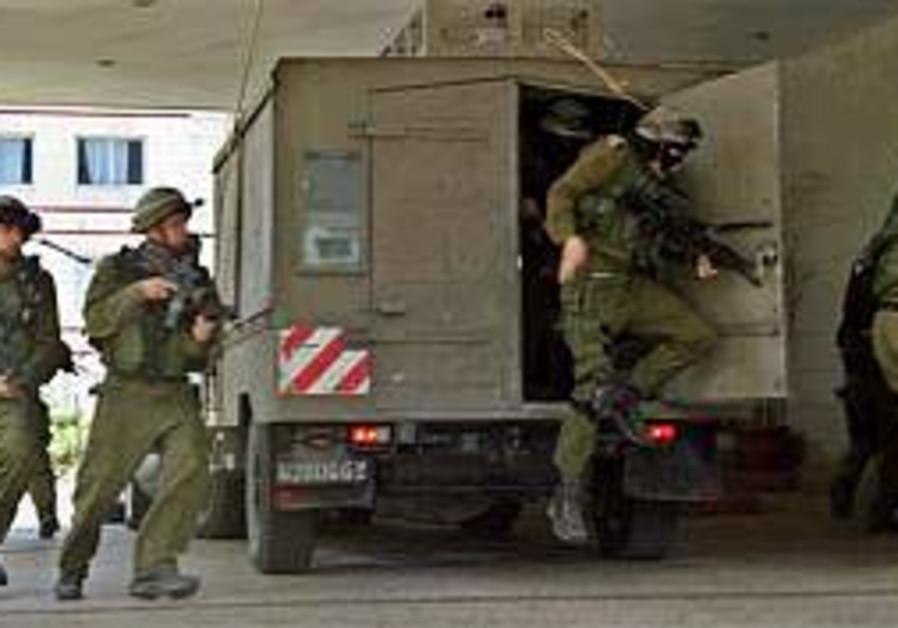 troops in nablus operation, hospital, 298 ap